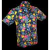 Afbeelding van Overhemd korte mouw, super bright flowers