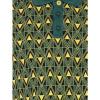 Afbeelding van ATO Berlin | Polo Enzio, jacquard patroon, groen geel