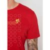 Afbeelding van Green Bomb | T-shirt Bike Rings, tango red bio katoen