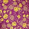 Afbeelding van Overhemd Outline flowers violet geel