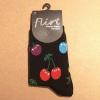 Afbeelding van Flirt | Zwarte sokken met gekleurde kersen