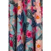 Afbeelding van Jurk Lotus, turquoise met roze en creme bloemen
