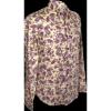 Afbeelding van Overhemd, flowers & leaves creme violet