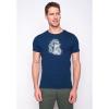 Afbeelding van Green Bomb | T-shirt Bike Badger, bio katoen navy blauw