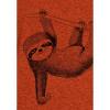 Afbeelding van Green Bomb | T-shirt oranje Animal Sloth bio katoen