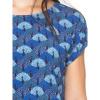 Afbeelding van ATO Berlin | shirt Leo blauw met pauwen print dessin
