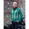 Afbeelding van Collectif | Groen gebreid 50's vest Dave Caledonian