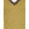 Afbeelding van Ato Berlin, bio katoen spencer Falk grafisch patroon olijf en geel
