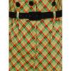Afbeelding van Collectif   High-waisted geruite broek Moxy Holiday met bretels