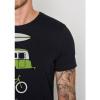 Afbeelding van Green Bomb | T-shirt Nature Fun, zwart bio katoen