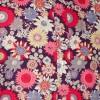 Afbeelding van Chenaski overhemd seventies, Full on flowers, violet