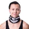 Afbeelding van Poizen Industries | Sjaal masker zwart met skull print