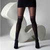 Afbeelding van Panty Mock over the Knee, met dubbele streep