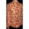 Afbeelding van Overhemd, flowers & leaves creme red