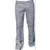 Afbeelding van Pantalon Bakerstreet, zwart met witte ruit, wijde pijpen