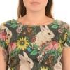 Afbeelding van Jurk retro floral bunny tea dress