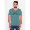 Afbeelding van Green Bomb | T-shirt lichtblauw Bike Cross bio katoen