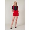 Afbeelding van Shorts Rosalie, rode cord met bretels