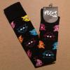 Afbeelding van Flirt | Overknee sokken zwart met gekleurde kattenkopjes