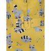 Afbeelding van Collectif   Pencil jurk Wanda Ravenous geel met wasberen