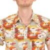 Afbeelding van Overhemd met korte mouw retro sunset hawaiian