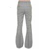 Afbeelding van Pantalon met wijde pijp, grijs geruit