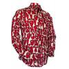 Afbeelding van Chenaski   Creme rood seventies overhemd Moloko