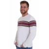 Afbeelding van T-shirt lange mouw, wit met regenboog baan