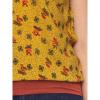 Afbeelding van ATO Berlin | shirt Leo geel met retro bloemetjes