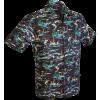 Afbeelding van Overhemd korte mouw, Swordfish bruin