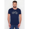 Afbeelding van Green Bomb | T-shirt navy Bike Cross bio katoen