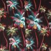 Afbeelding van Chenaski | Overhemd korte mouw, Palm Trees, zwart