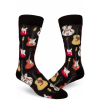 Afbeelding van The London Stories | Zwarte sokken met gekleurde gitaren