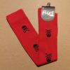 Afbeelding van Flirt | Overknee sokken rood met zwarte skulls
