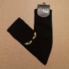 Afbeelding van Flirt | Overknee sokken zwart met gele kattenogen
