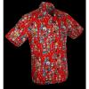 Afbeelding van Overhemd korte mouw Dance of the Dead, rood