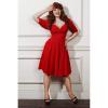 Afbeelding van Collectif   Jurk Trixie Doll rood met driekwart mouw