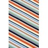 Afbeelding van T-shirt retro multi colour striped