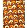 Afbeelding van Overhemd Retro Eyeball Bruin Oranje Geel