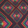 Afbeelding van Handtas retro print Rhombus Black Multicolour
