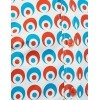 Afbeelding van Overhemd Seventies Retro Eyeball Creme Blauw Rood