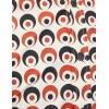 Afbeelding van Overhemd Seventies Retro Eyeball Creme Zwart Rood