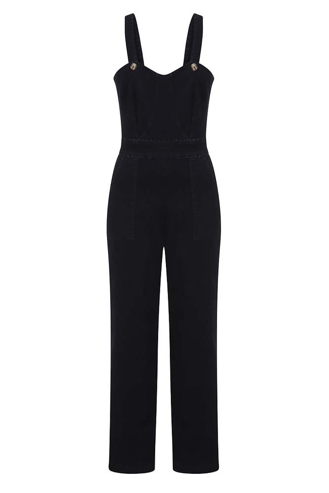 Banned | Jumpsuit Play Day blauwe denim