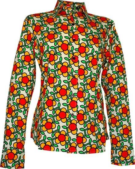 Chenaski - dames blouse Flowergrid, creme