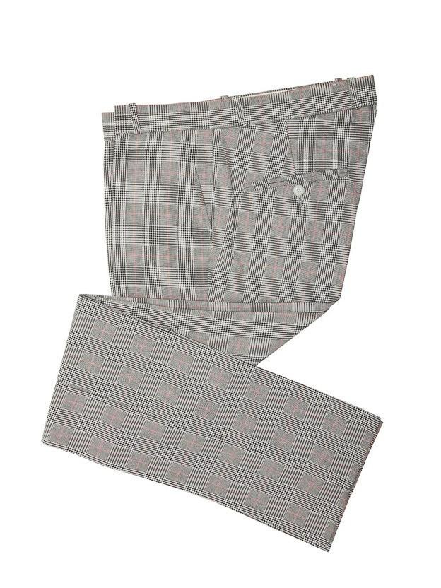 Pantalon Prince of Wales, zwart wit rood geruit