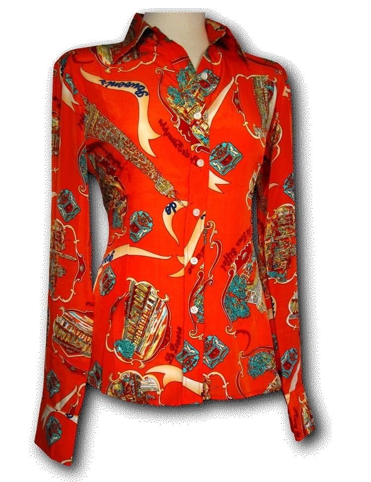 Blouse Paris Orange