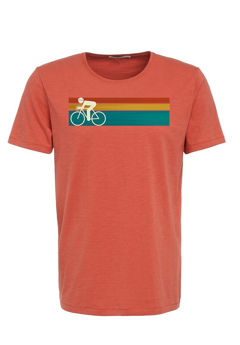Green Bomb | T-shirt Bike Speed, bio katoen, sun red