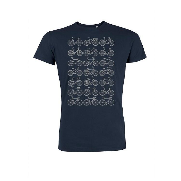 T-shirt bike all over bio katoen navy