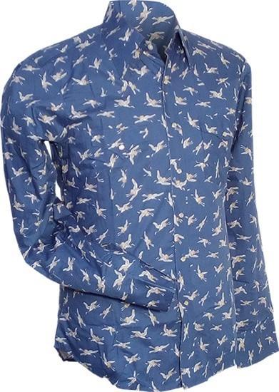 Overhemd Cowboy, Crane, blauw