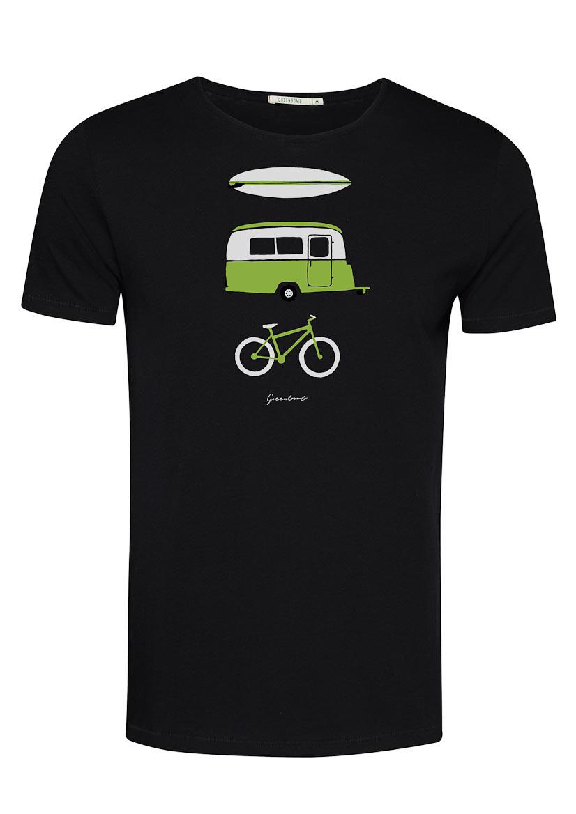 Green Bomb | T-shirt Nature Fun, zwart bio katoen